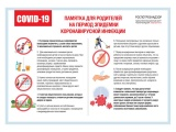 Рекомендации родителям на период эпидемии коронавирусной инфекции